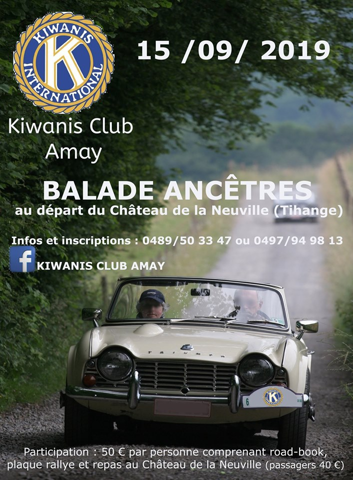affiche deBALADE ANCETRES KIWANIS CLUB AMAY